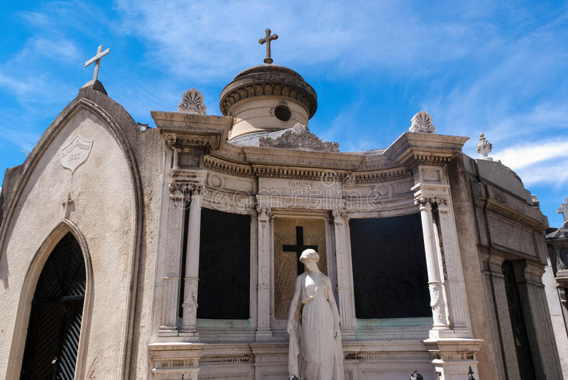 Cemetery La Recoleta royalty free stock photo
