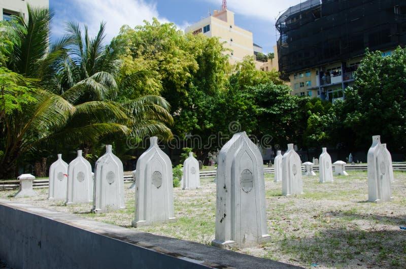 Cemetery at Maldives stock photo
