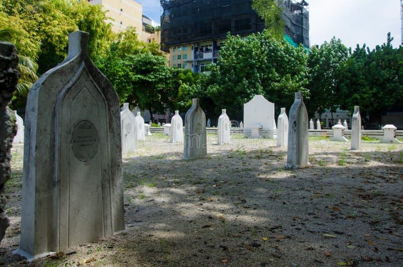 Cemetery at Maldives royalty free stock photo