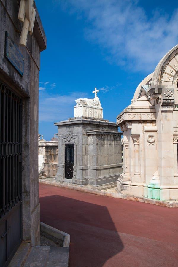Cemetery Municipal de Ballena en Castro Urdiales, España imagen de archivo