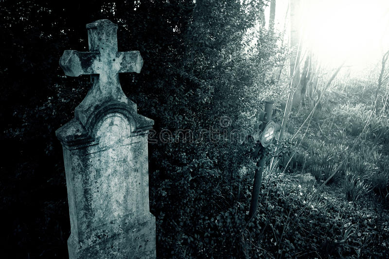 Download Cemetery night stock image. Image of coffin, cadaver - 56618821