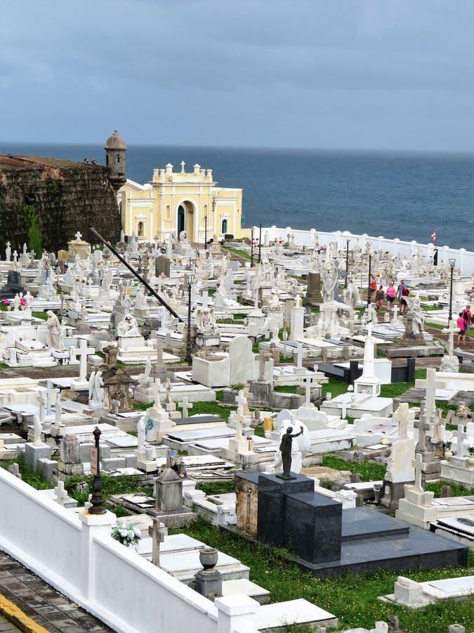 Cemetery in Old San Juan, Puerto Rico stock photo