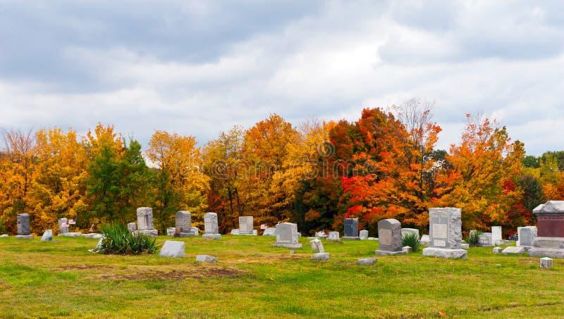 Cemetery in Pennsylvania stock photo