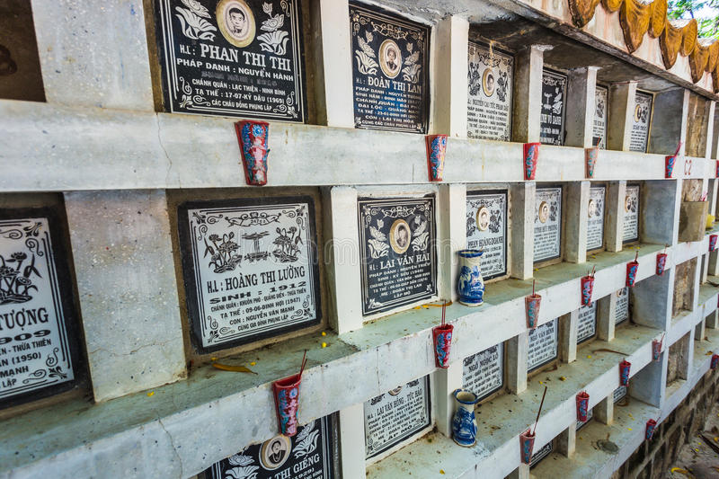Cemetery for peoples, who died during war between Vietnam and U stock images