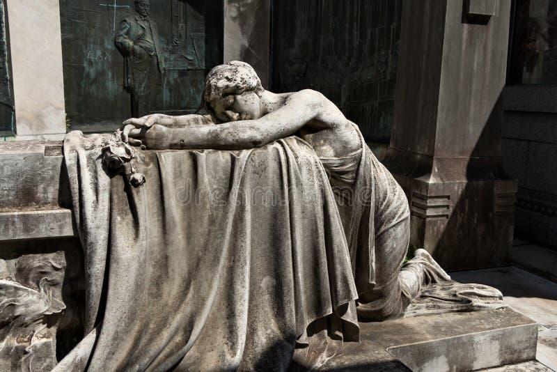 Cemetery Recoleta, Buenos Aires Argentine. Historic cemetery Recoleta with many sculptures, Buenos Aires Argentine stock image