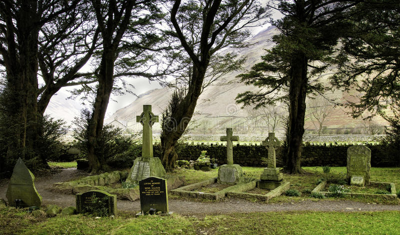Cemetery, St. Olafs Church, Lake District royalty free stock photography