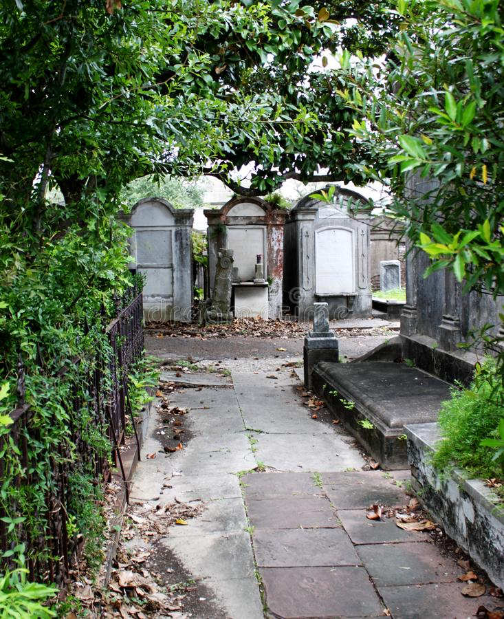 Cemetery of tombs stock photo