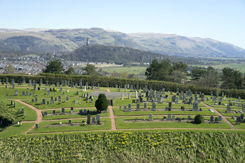 Cemetery and William Wallace Monument - Scotland stock image
