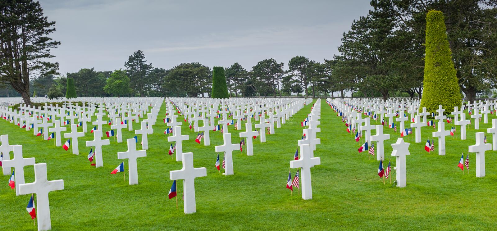 Cemetry. American Cemetry, Normady France Europe royalty free stock image