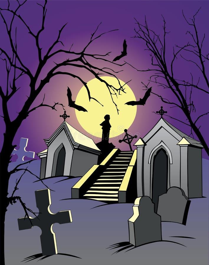 Cemitério ilustração stock