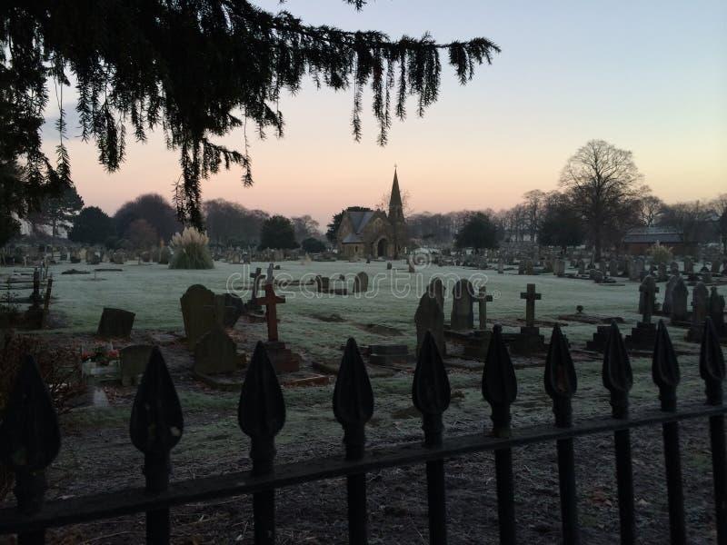 Cemitério imagem de stock