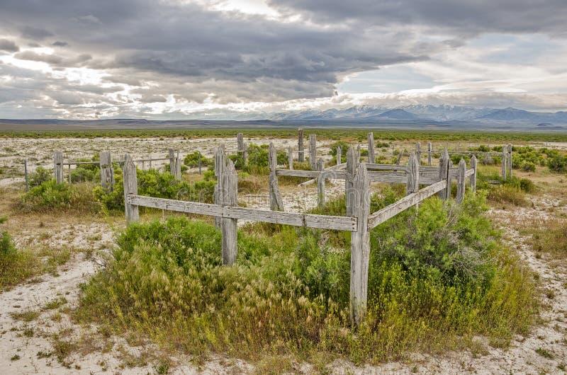 Cemitério abandonado em Utá imagem de stock
