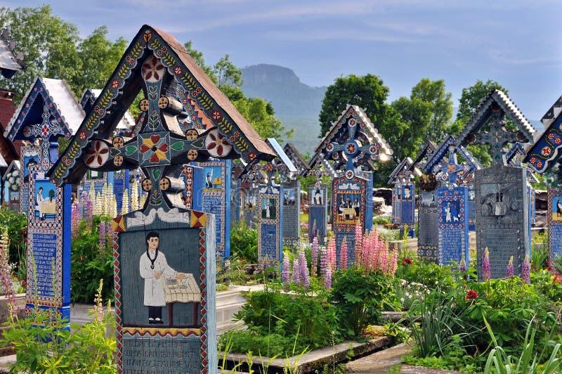 Cemitério alegre de Sapanta imagem de stock