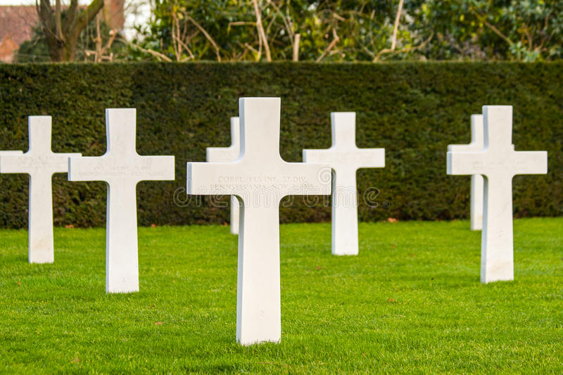 Cemitério americano Waregem Bélgica do campo de Flanders fotografia de stock royalty free
