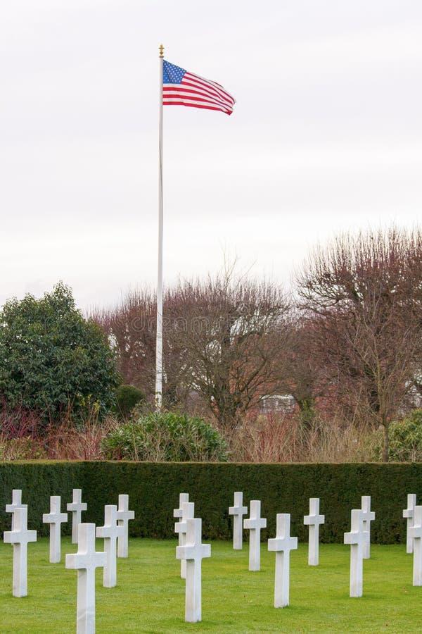 Cemitério americano Waregem Bélgica do campo de Flanders imagens de stock