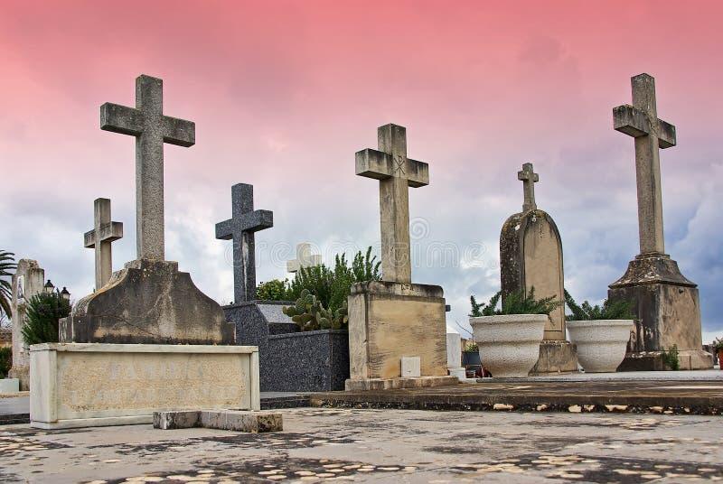 Cemitério católico fotografia de stock