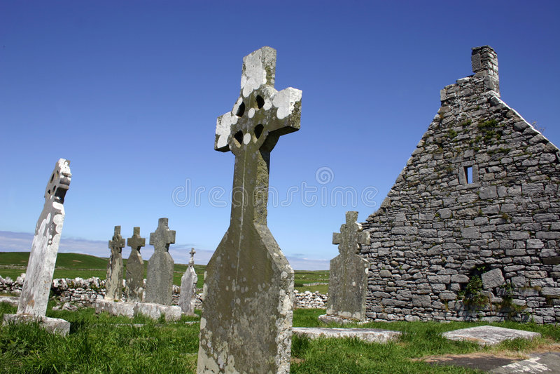 Cemitério celta imagens de stock