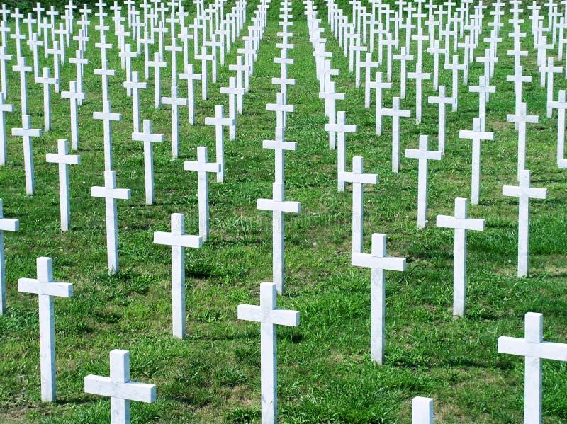 Cemitério da guerra imagens de stock
