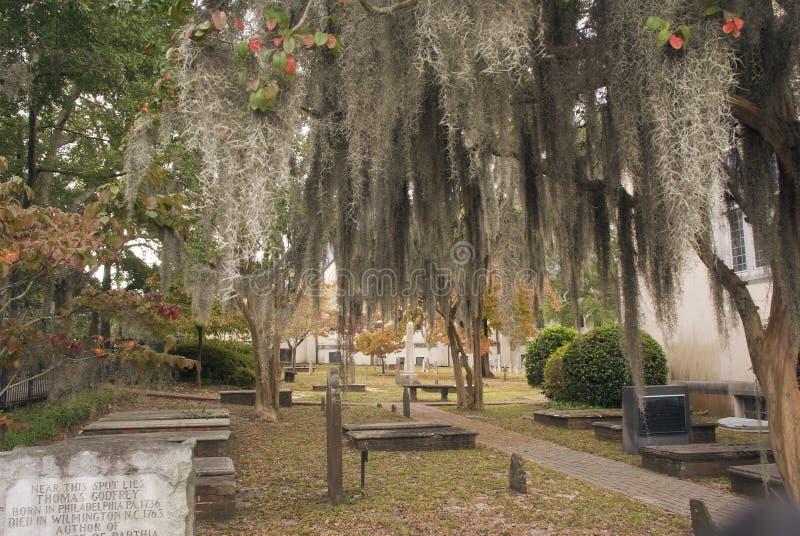 Cemitério da igreja imagem de stock