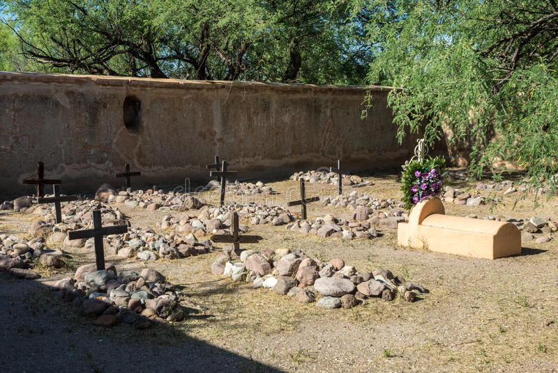 Cemitério da missão imagens de stock