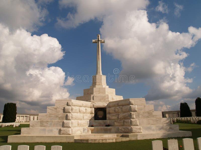 Cemitério das forças armadas de Tyne Cot fotos de stock