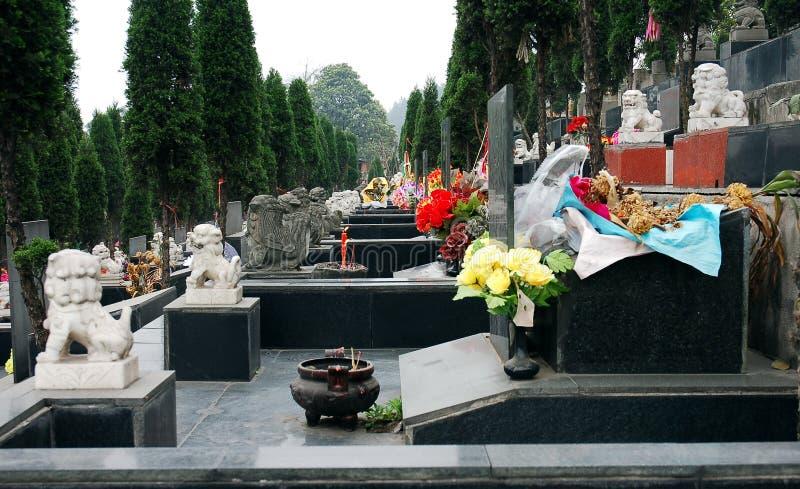 Cemitério de Ásia imagens de stock