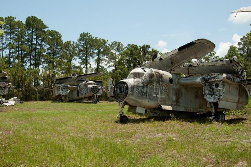 Cemitério de bombardeiros de St Augustine, Grumman S2 do avião imagem de stock royalty free