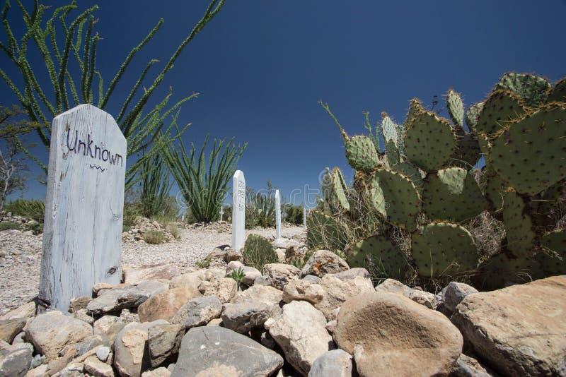 Cemitério de Boothill fotos de stock