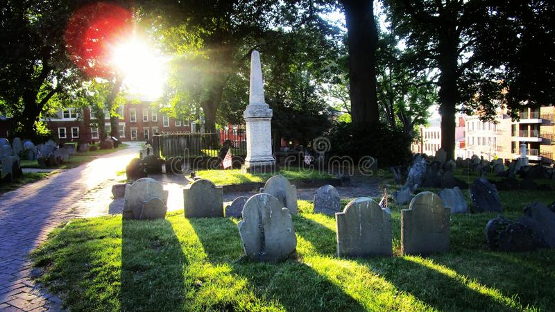 Cemitério de Boston fotografia de stock royalty free