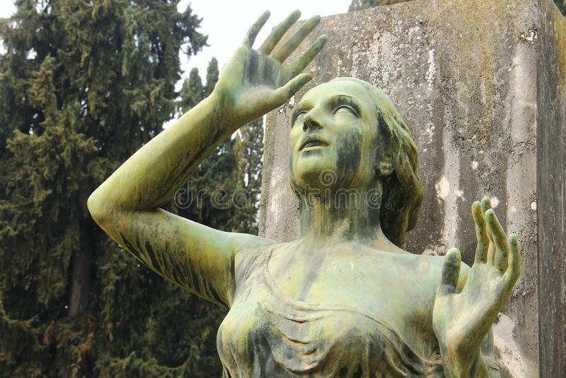 Cemitério de Campo Verano em Roma fotos de stock royalty free