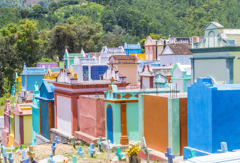 Cemitério de Chichicastenango imagens de stock