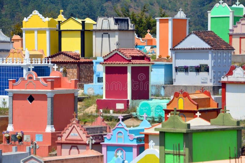 Cemitério de Chichicastenango imagem de stock