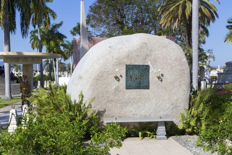 Cemitério de Fidel Castro Tombstone Cuban Soldier Santa Ifigenia Miltary imagem de stock royalty free