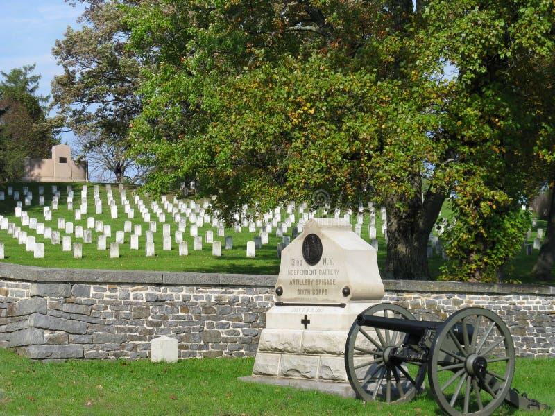 Cemitério de Gettysburg fotos de stock royalty free