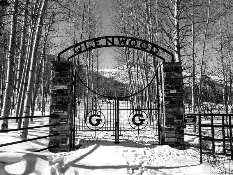 Cemitério de Glenwood em Park City foto de stock royalty free