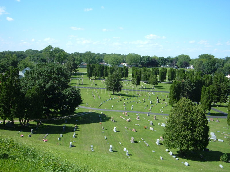 Cemitério de Illinois imagens de stock