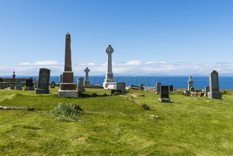 Cemitério de Kilmuir foto de stock
