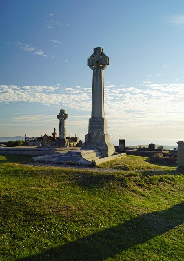 Cemitério de Kilmuir, sepultura do ` s de Flora MacDonald imagem de stock