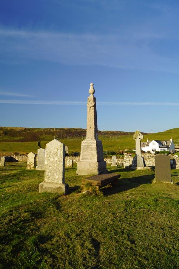 Cemitério de Kilmuir, sepultura do ` s de Flora MacDonald fotografia de stock royalty free