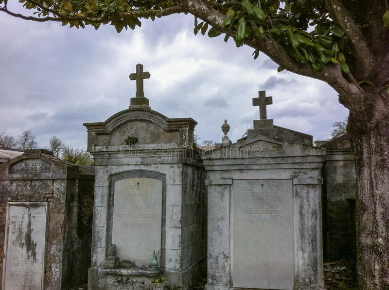 Cemitério de Lafayette, Nova Orleães, Louisiana fotografia de stock royalty free