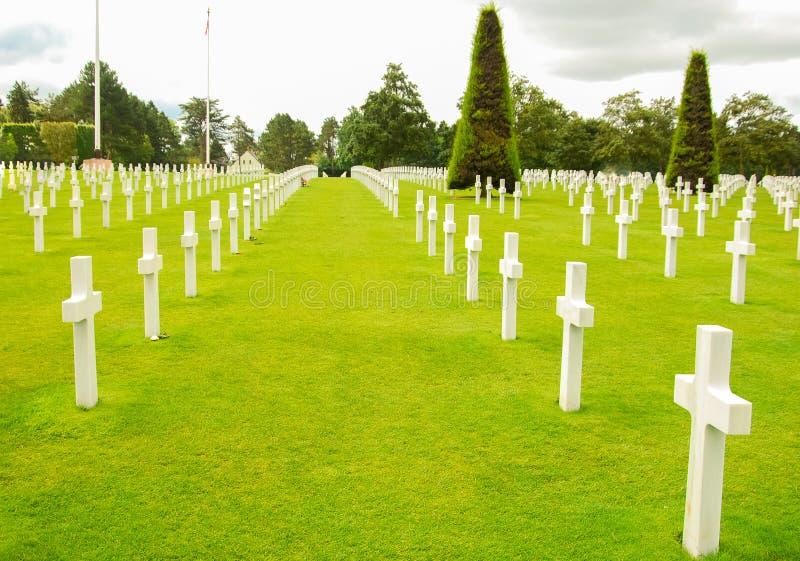 Cemitério de Normandy fotografia de stock royalty free