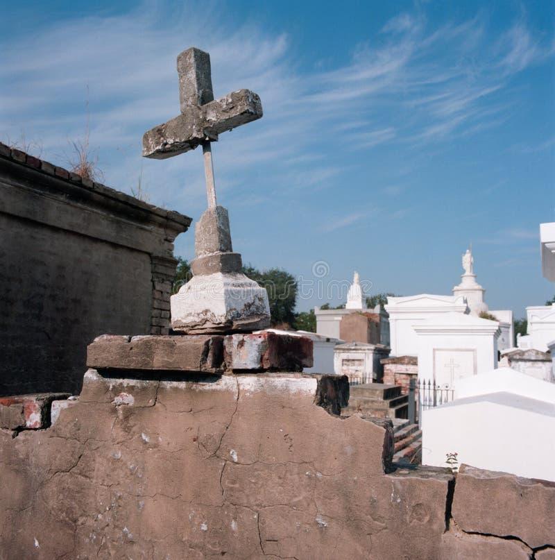 Cemitério de Nova Orleães fotografia de stock royalty free