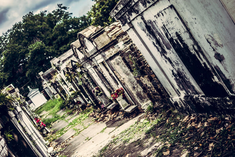 Cemitério de Nova Orleães Lafayette imagens de stock