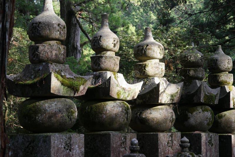 Cemitério de Okunoin em Koyasan fotografia de stock royalty free