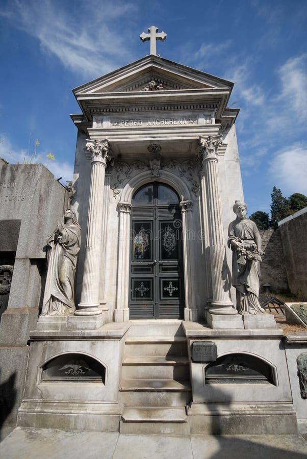 Cemitério de Recoleta, Buenos Aires. fotografia de stock royalty free
