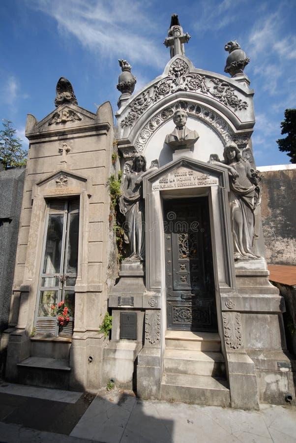 Cemitério de Recoleta, Buenos Aires. foto de stock