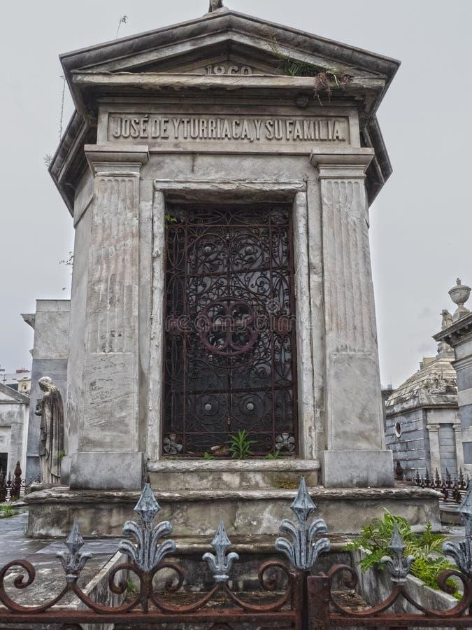 Cemitério de Recoleta do La, Buenos Aires, Argentina foto de stock royalty free