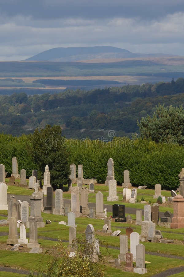 Cemitério de Stirling foto de stock