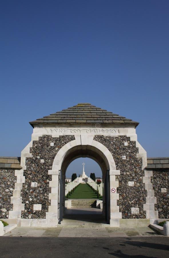 Cemitério de Tyne Cot CWGC fotos de stock