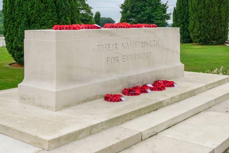 Cemitério de Tyne Cot WW1 perto de Ypres fotos de stock
